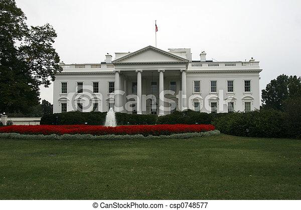 白色, 華盛頓特區, 房子 - csp0748577
