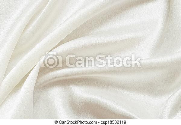 白, ひだのある布 - csp18502119