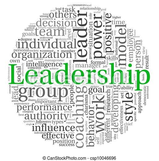 白, タグ, 単語, 雲, リーダーシップ - csp10046696