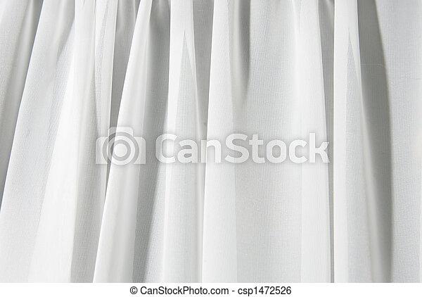 白, ドレープ, 背景 - csp1472526