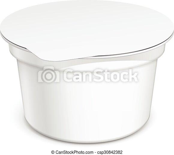 白, ブランク, 容器, プラスチック - csp30842382