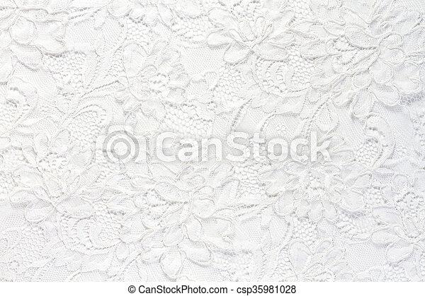 白, レース, 背景, 結婚式 - csp35981028