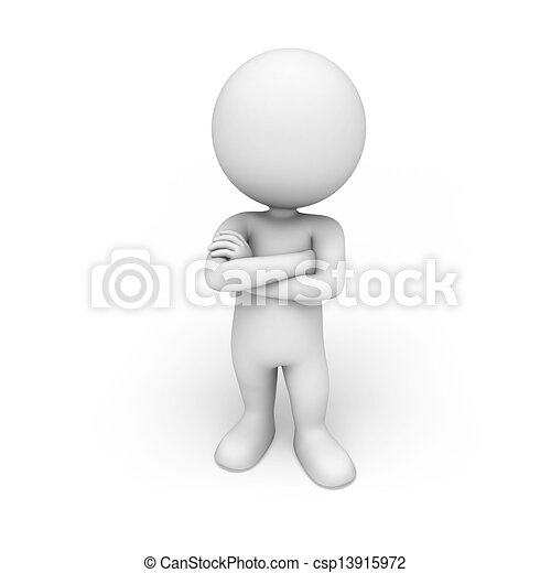 白, 3d, 人々 - csp13915972