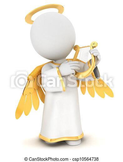 白, 3d, 天使, 人々 - csp10564738