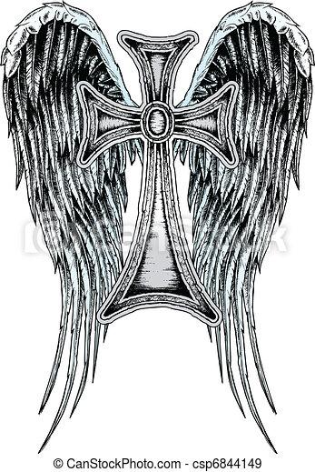 皇族, 古典である, 天使, 交差点 - csp6844149