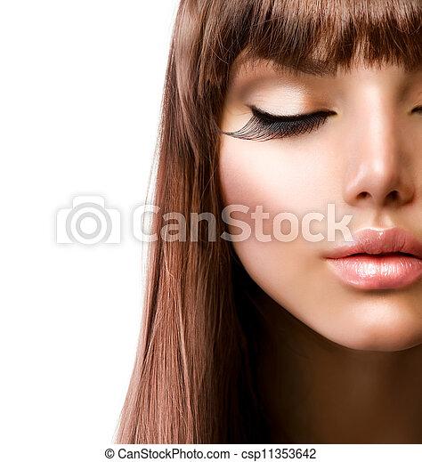皮肤, 方式, makeup., 完美, face. - csp11353642