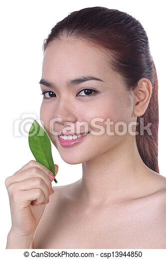 皮膚, 女, アジア人, 美しさ世話 - csp13944850