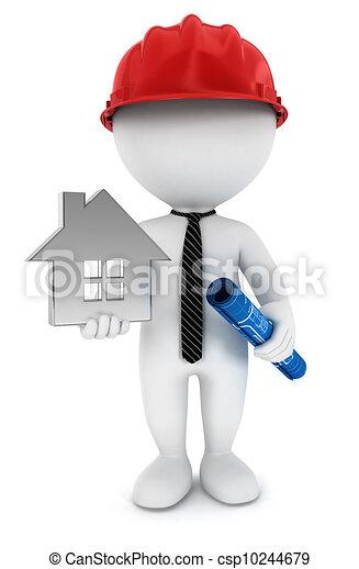 監督, 白, 3d, 人々 - csp10244679