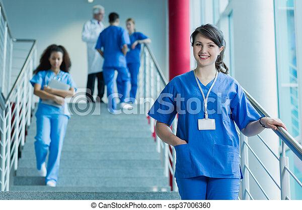 目標, なる, 私, 医者 - csp37006360