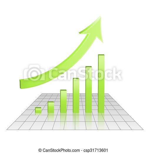 目標, 事務, 圖表, 成長, 成就, 3d - csp31713601