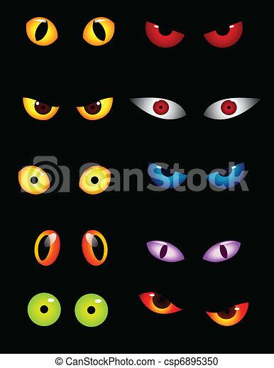 目, セット, 動物 - csp6895350