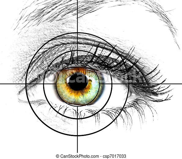 目, ターゲット, 人間 - csp7017033