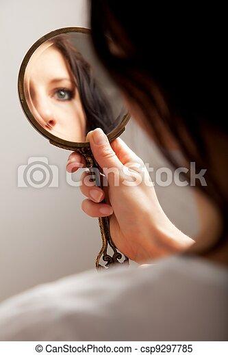 目, 反射, 鏡 - csp9297785