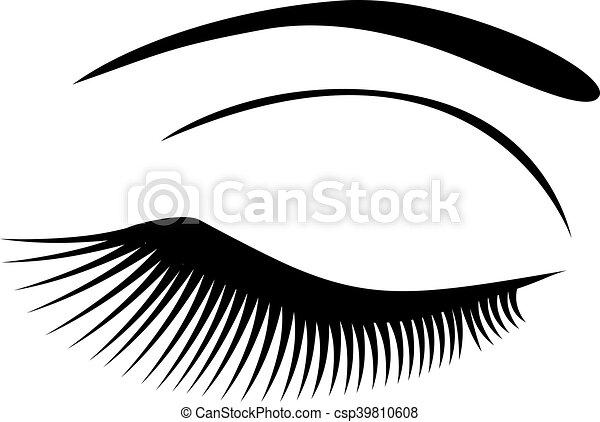 目, 長い間, 激しく打つ - csp39810608