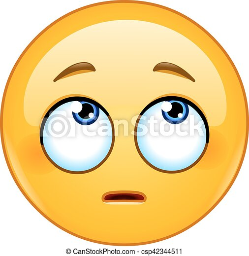 目, 顔, 回転, emoticon - csp42344511