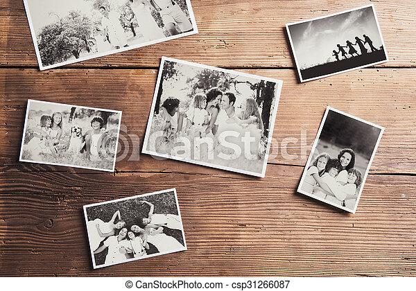 相片, 放置, 家庭, 桌子 - csp31266087