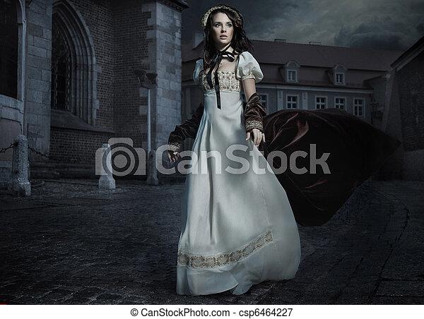 相片, 黑發淺黑膚色女子, 老 被塑造, 美麗 - csp6464227