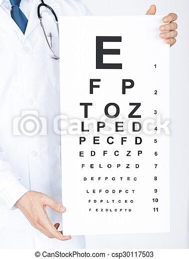 眼科医, マレ, 目 図表 - csp30117503