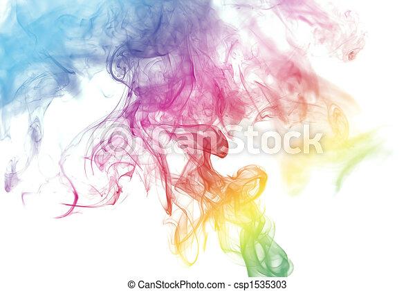着色される虹, 煙 - csp1535303