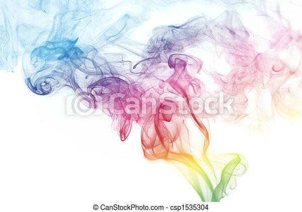 着色される虹, 煙 - csp1535304