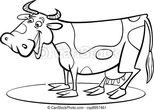 着色, 漫画, 牛, ページ - csp8957461