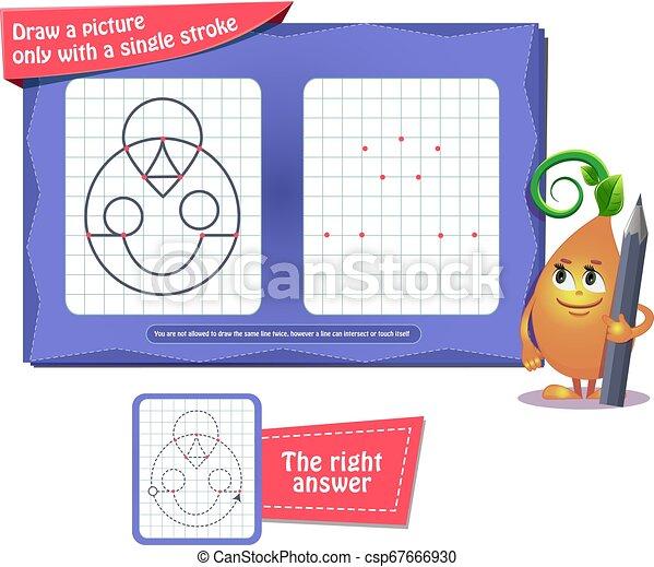 着色, 1(人・つ), 脳, ゲーム, 本, 線 - csp67666930
