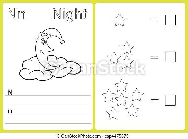 着色, worksheet, アルファベット, 困惑, -, 子供, a-z, 練習, 本 - csp44756751