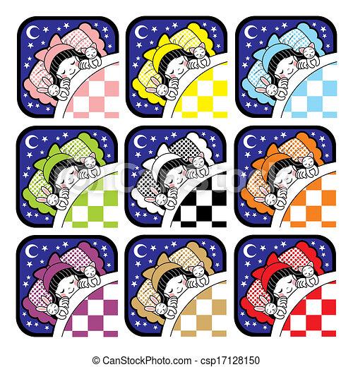 睡眠, アイコン - csp17128150