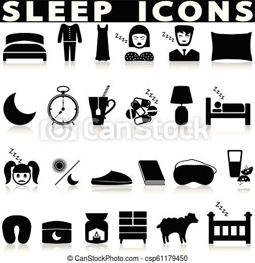 睡眠, アイコン - csp61179450
