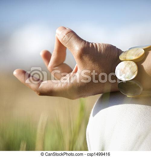 瞑想, hands. - csp1499416
