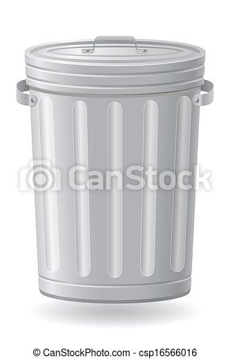 矢量, 垃圾, 插圖, 罐頭 - csp16566016