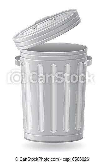 矢量, 垃圾, 插圖, 罐頭 - csp16566026