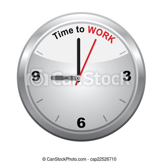 矢量, 工作, 時間 - csp22526710