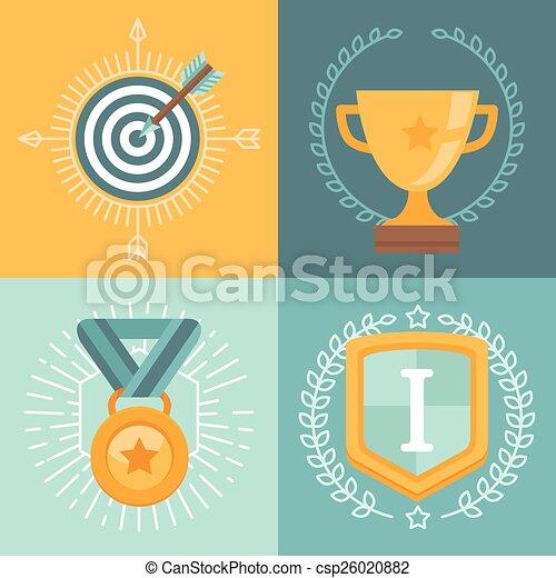 矢量, 成就, 徽章 - csp26020882