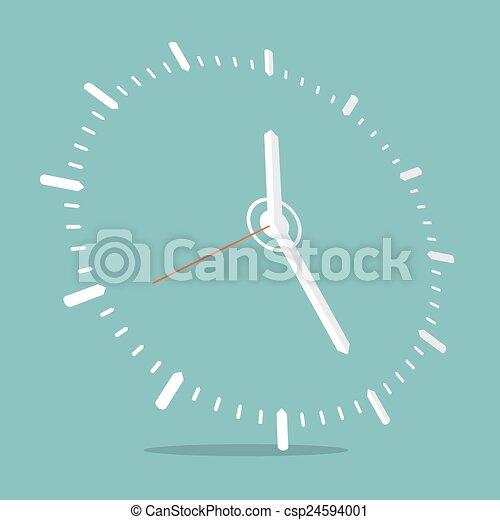 矢量, 插圖, 鐘 - csp24594001