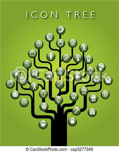 矢量, 樹, 圖象 - csp3277349