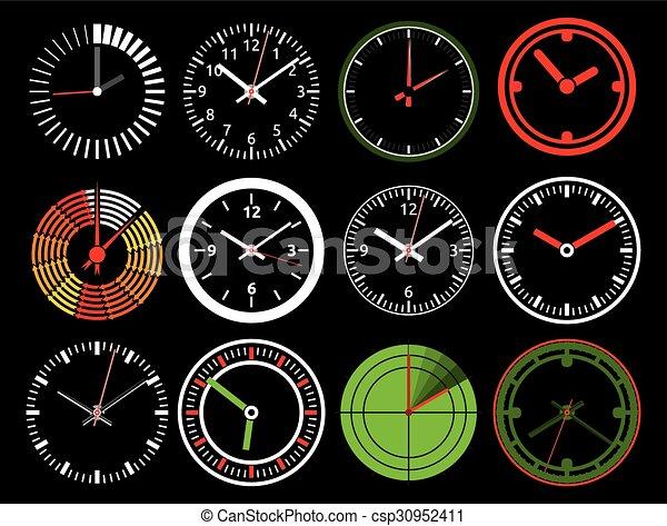 矢量, 鐘, 圖象 - csp30952411