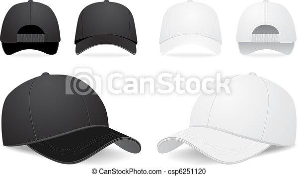 矢量, 集合, 帽子, 棒球 - csp6251120
