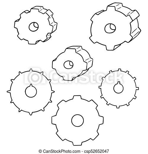 矢量, 集合, 齒輪 - csp52652047