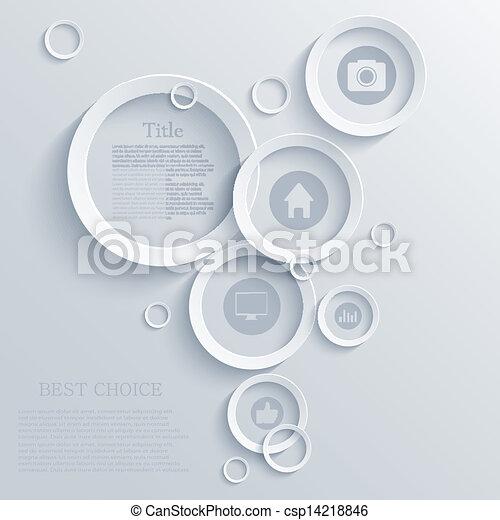 矢量, infographic, eps10, 背景, design. - csp14218846
