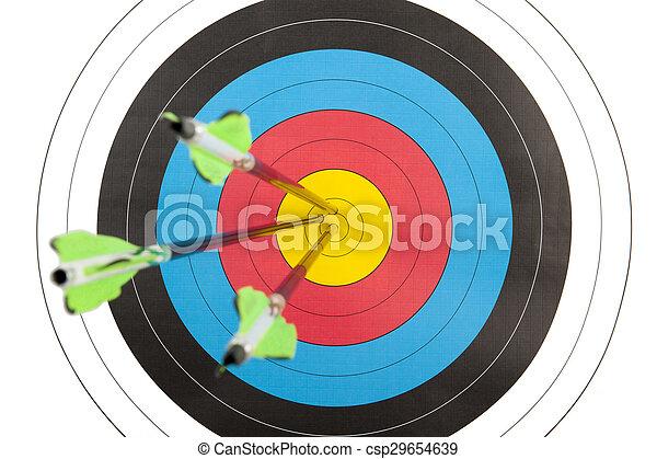 矢, アーチェリー, 衝突, ターゲット, 3 - csp29654639