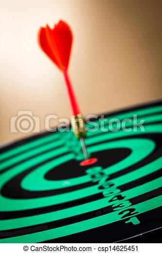 矢, ターゲット, さっと動く - csp14625451