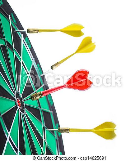矢, ターゲット, さっと動く - csp14625691