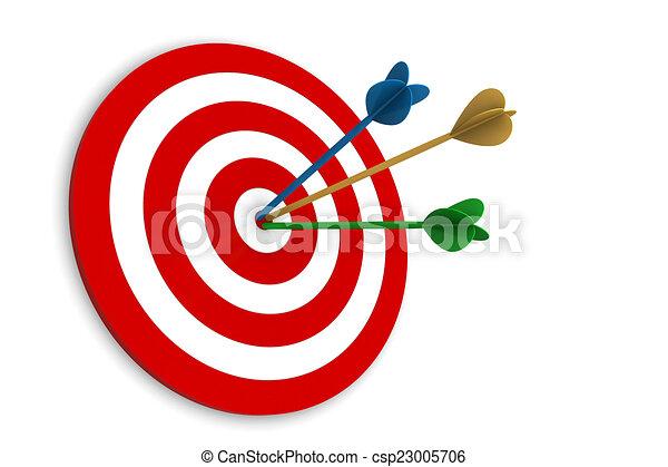 矢, ターゲット - csp23005706