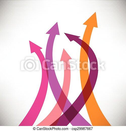 矢, 成功, 背景, 創造的 - csp29987667