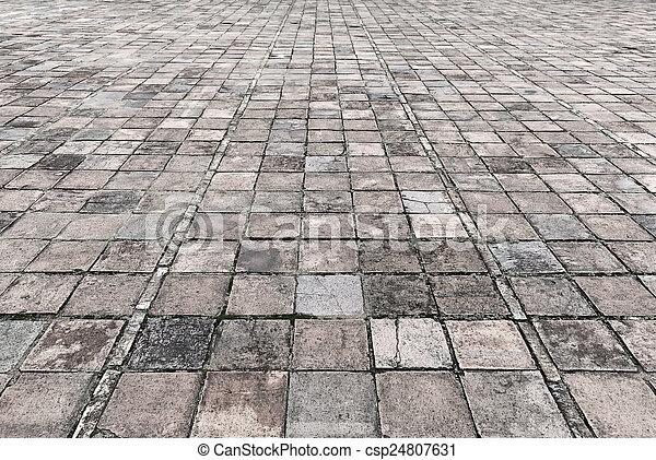 石のきめ, 道, 通り, 舗装, 型 - csp24807631
