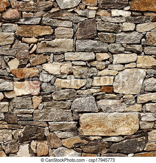 石のブロック, 中世, 壁, seamless, 手ざわり - csp17945773