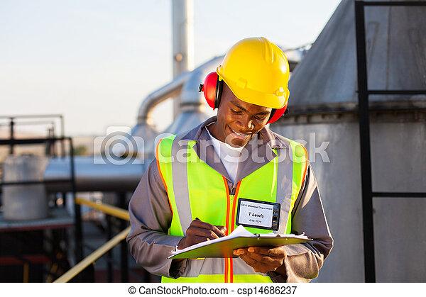 石油産業, 労働者, 化学物質, アメリカ人, アフリカ - csp14686237