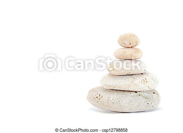 石, 白, 禅 - csp12798858