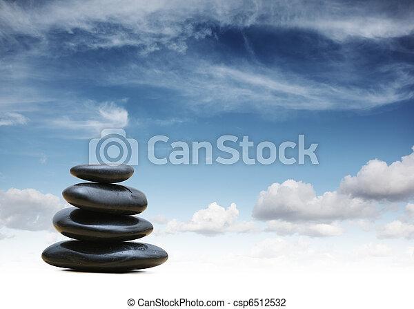石, 禅, 背景 - csp6512532